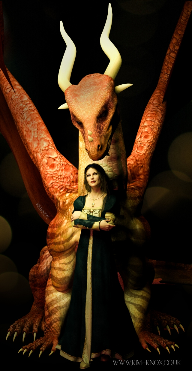 A woman and her dragon