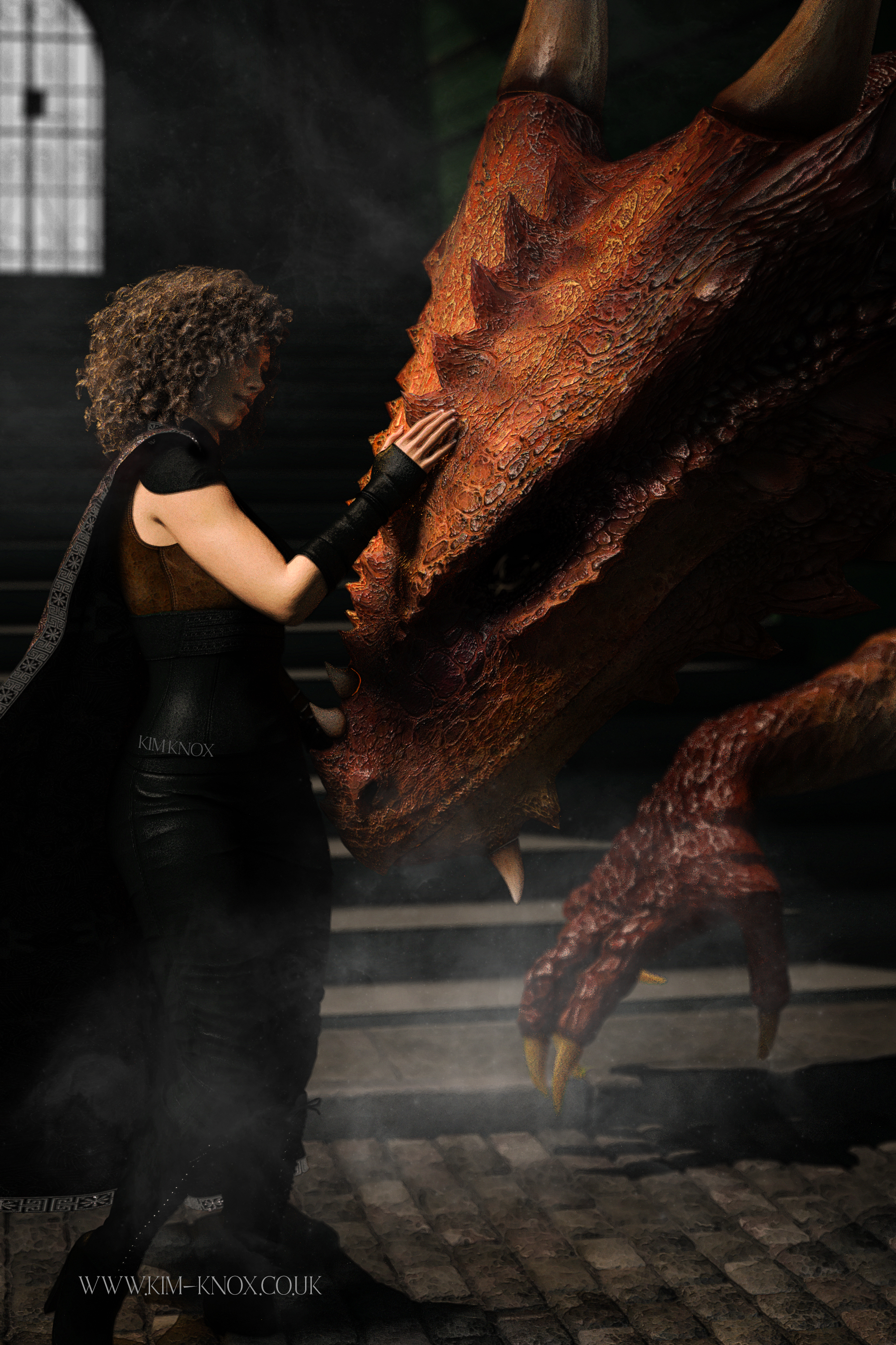A Dragon Courts Her